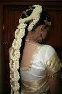South Indian Bridal Hairstyles Mainly Consist Of Very Long Hair As Keeping  The Hair Long Is Part Of Their ...
